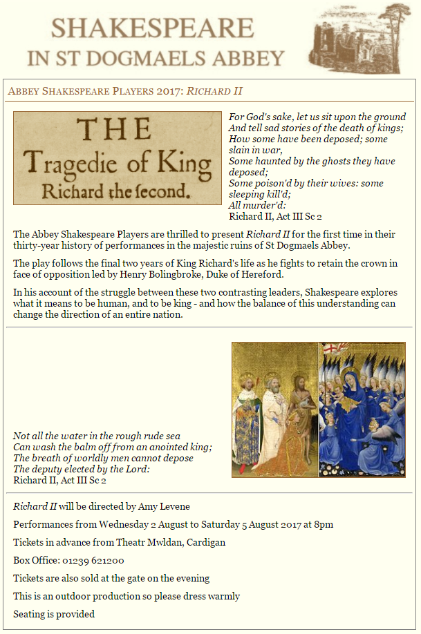 Richard II - Abbey Shakespeare Players